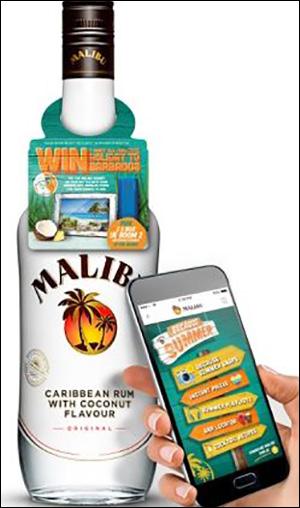 Malibu兰姆酒启用NFC酒瓶