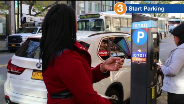 纽约市推广手机支付停车费 加载一个虚拟钱包即可